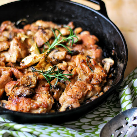 Chicken with Rosemary and Mushroom Glaze