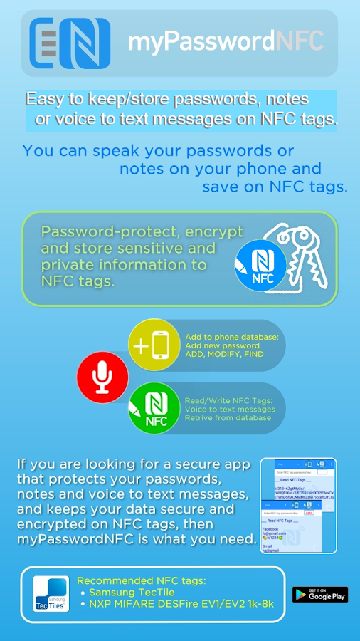 NFC Tools - myPasswordNFC Screenshot 0