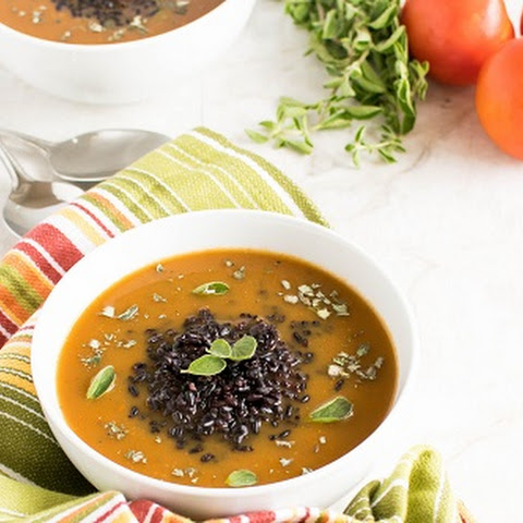 Herbed Black Rice Soup