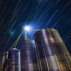 Star trail silo by Morne Kotze - Buildings & Architecture Other Exteriors (  )