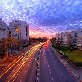 HAIM BAR LEV ST. by Dong  Leoj - City,  Street & Park  Street Scenes ( street&park, street scenes, city )