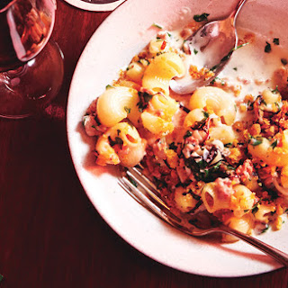 Lumaconi with Prosciutto and Lemon Breadcrumbs