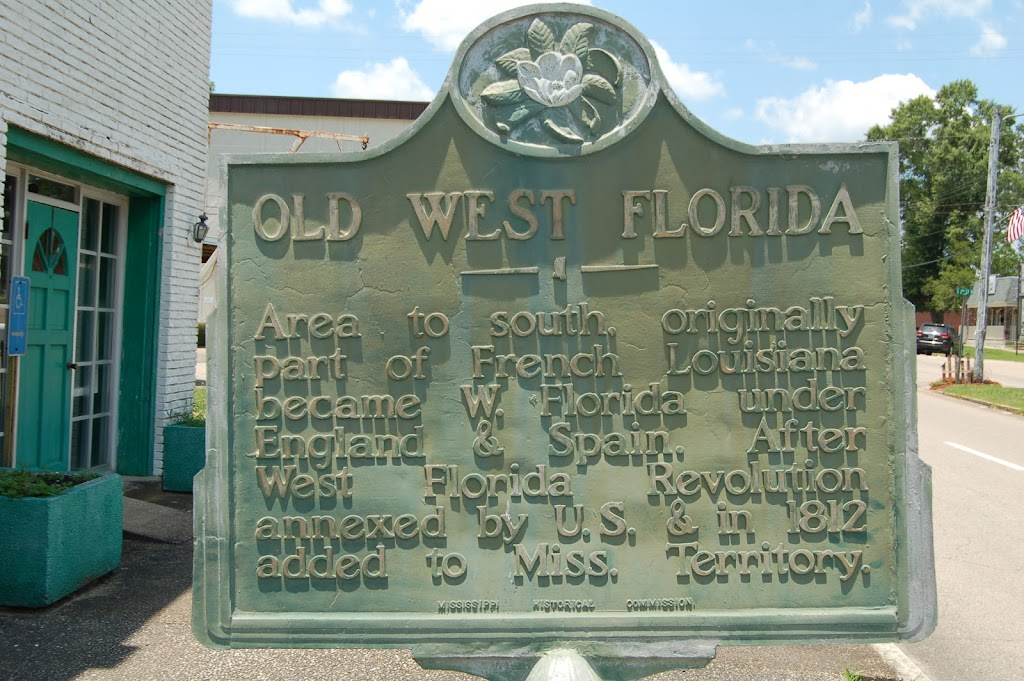 Area to south, originally part of French Louisiana became W. Florida under England & Spain. After West Florida Revolution annexed by U.S. & in 1812 added to Miss. Territory.