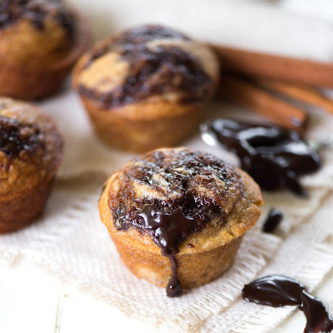Hot Fudge Banana Muffins