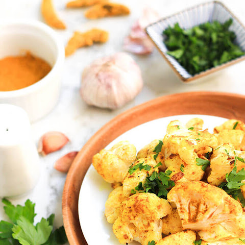 Roasted Garlic Turmeric Cauliflower