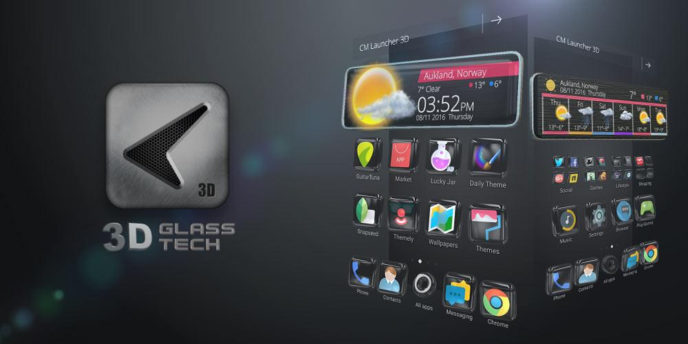 Glass Tech 3D Live Theme Screenshot 4