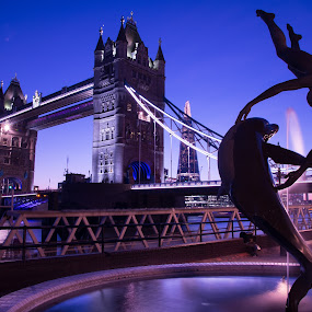 tower bridge by Balan Gratian - City,  Street & Park  City Parks ( london night, blue hour tower bridge, tower bridge, london cityscape, tower bridge light )