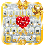Gold and Silver Glitter Bow Girlish Keyboard Icon
