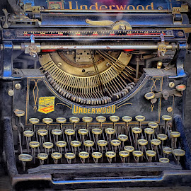 Vintage Wordprocessor by Marco Bertamé - Artistic Objects Other Objects ( keyboard, letter, typewriter, vintage, number, underwood, key )