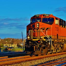 BNSF 7129  8767 by Jim Suter - Transportation Trains
