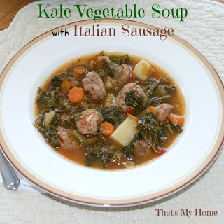 Kale Vegetable Soup with Italian Sausage