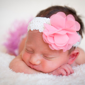 Baby Evalyn by Adz King - Babies & Children Babies ( sweet, sleeping, baby, flower, newborn )