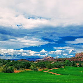 SGR Bling by Michael Pruitt - Landscapes Cloud Formations ( clouds, arizona, sedona golf resort, sedona )