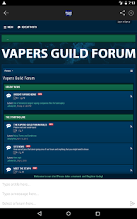 Vapers Guild Forum - screenshot