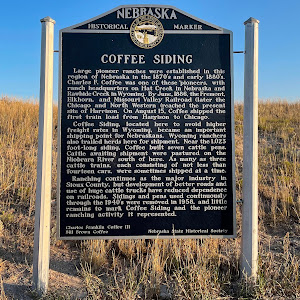 Note that the marker appears to have been sponsored by descendants of the rancher, Charles Franklin Coffee, who built the railroad siding commemorated here. As usual when you start looking for ...