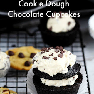 Cookie Dough Chocolate Cupcakes
