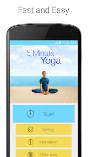 5 Minute Yoga Fitness app screenshot for Android