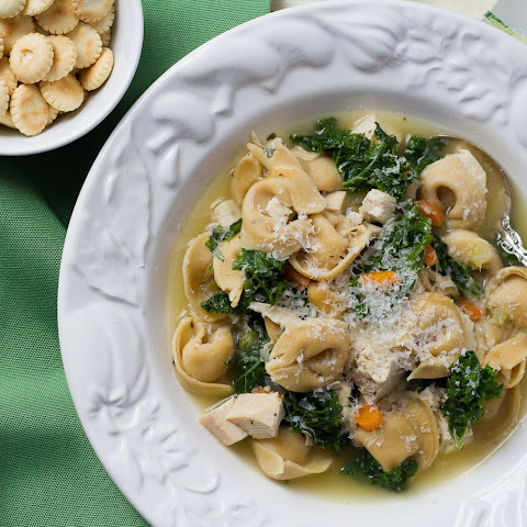 20-minute Chicken And Tortellini Soup With Kale