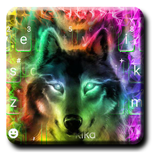 Colorful Wolf Keyboard Theme For PC