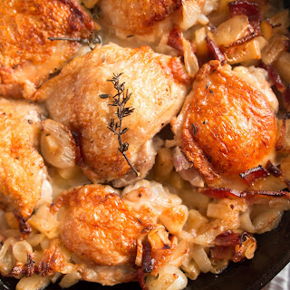 Pan-Roasted Chicken with Bacon and Apple Recipe from The ZENBELLY COOKBOOK
