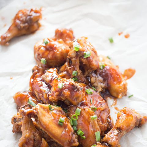 Baked Chicken Wings Recipe with Fig and Stout Sauce