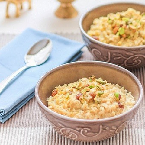 Indian Brown Rice Pudding (Kheer).