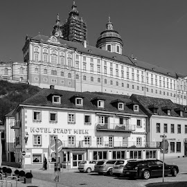 Elegant Building in Black and White by Adhi Rachdian - Buildings & Architecture Office Buildings & Hotels ( building, photograph, white, architecture, black )