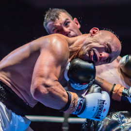 Taking It On The Chin by Andy Dries - Sports & Fitness Boxing ( bam, punch, ouch, uppercut, boxing, impact )
