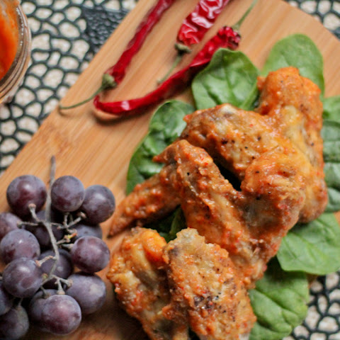 Peach Chili Chicken Wings