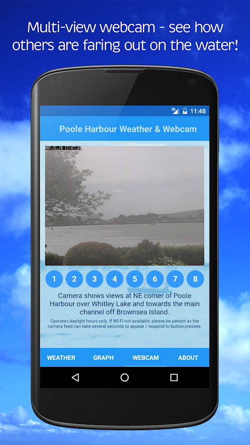 Poole Harbour Weather & Webcam Screenshot 1