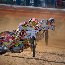 Just speedway by Jiri Cetkovsky - Sports & Fitness Motorsports ( motorcycle, speedway, race, sport, dust )