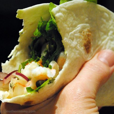 Greek Shrimp and Kale Wraps