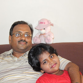 Dad n me by Arit Das - People Family (  )