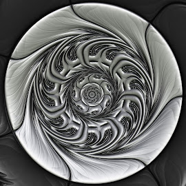 Silver amulet by Cassy 67 - Illustration Abstract & Patterns ( metal, digital art, fractal art, metallic, fractal, digital )