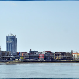 Osijek city by Damir Kutleša - Buildings & Architecture Office Buildings & Hotels ( osijek, buildings, bridge, river, city )
