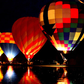 Balluminaria by Jenny Gandert - Transportation Other ( hot-air, balluminaria, ballons, eden park, mirror lake, cincinnati )