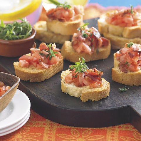 Tomato and Bacon Crostini