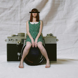 Artist at camera by Artist At Camera - Digital Art People ( girl, digital manipulation, analogue, conceptual, digital )