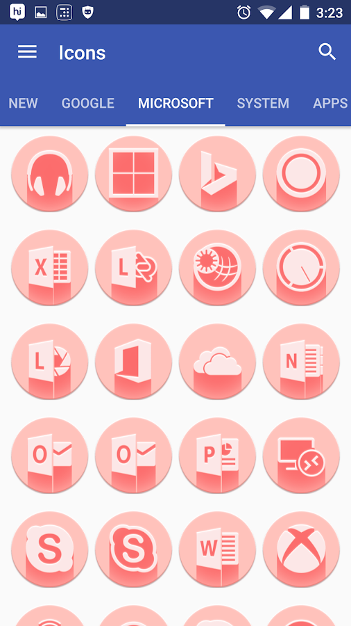 Pink Multilauncher Icon Pack Screenshot 8