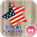 App Pretty Wallpaper U.S.A. Flag Star Theme APK for Kindle