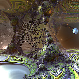BanWah; Sci-Fi City by Rick Eskridge - Illustration Sci Fi & Fantasy ( fantasy, jwildfire, mb3d, fractal, twisted brush )