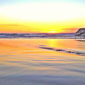 Serene Sheet by Derek Gibbins - Instagram & Mobile iPhone ( cliffs, sunset, glass, ocean, beach )