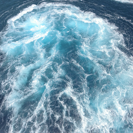 Shadows of Natural Blue. by Marcel Cintalan - Nature Up Close Water ( blue, ocean, boat, natural, shadows,  )