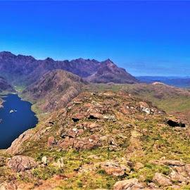 by Phil Bear - Landscapes Mountains & Hills ( coast, mountains, sgnurr na stri, isle of skye, uk, north sea, lake, scotland )