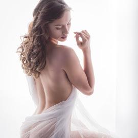 Classical by Jim Devonshire - Nudes & Boudoir Boudoir ( sexy, beautiful woman, art nude, zoe ivy, diaphanous, beautiful ass )