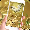 APK App Theme Butterfly Gold Diamond for BB, BlackBerry