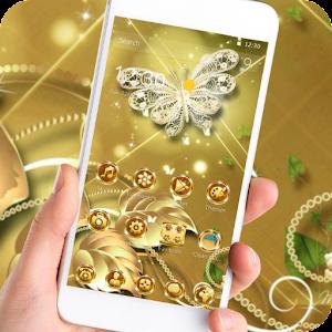Тема бабочка Золото ромб