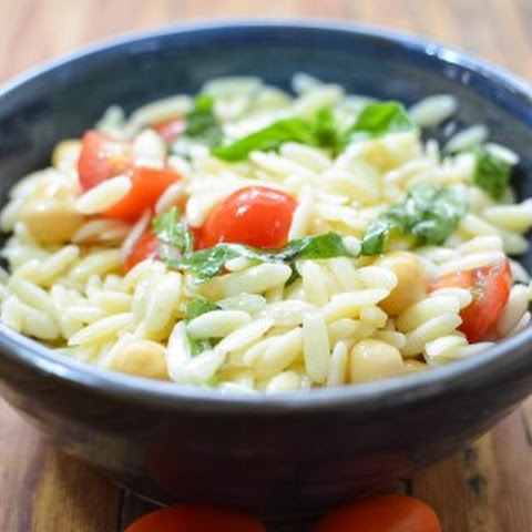 White Balsamic Orzo Pasta Salad