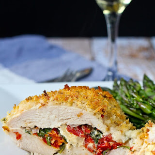 Sun-Dried Tomato, Kale and Feta Stuffed Chicken Breasts