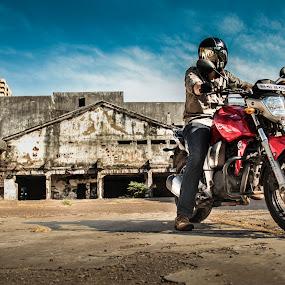 YAMAHA FZ-16 by Mangesh Jadhav - Transportation Motorcycles ( fz, yamaha, bike, red, 16 )